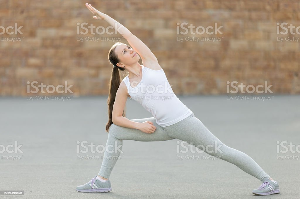 Extended Side Angle pose stock photo