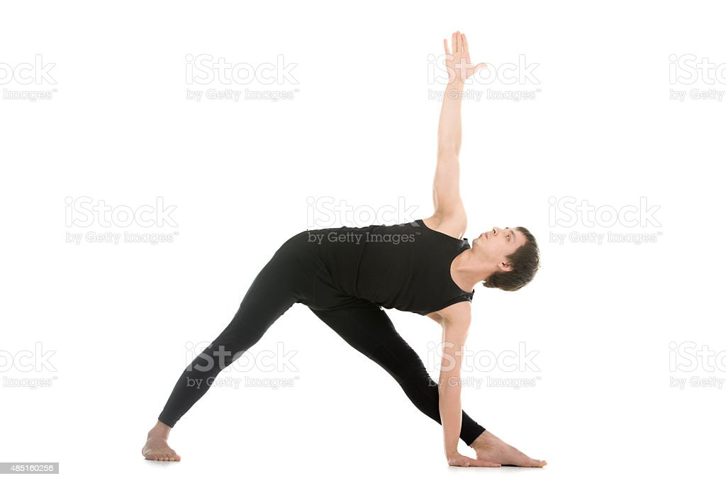 Extended Triangle Pose stock photo