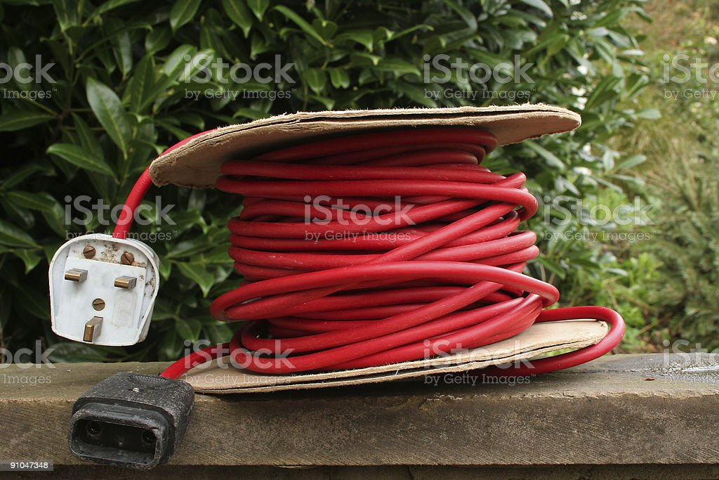 extension cable stock photo