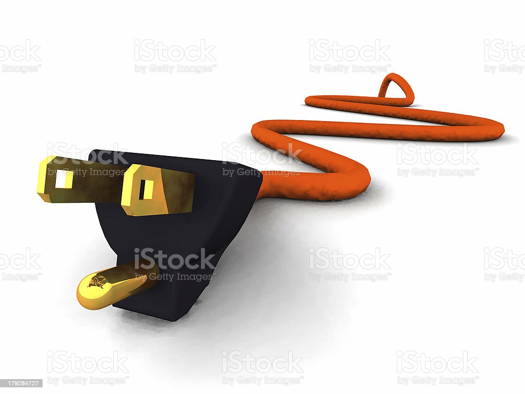 Extension Cord - CloseUp royalty-free stock photo