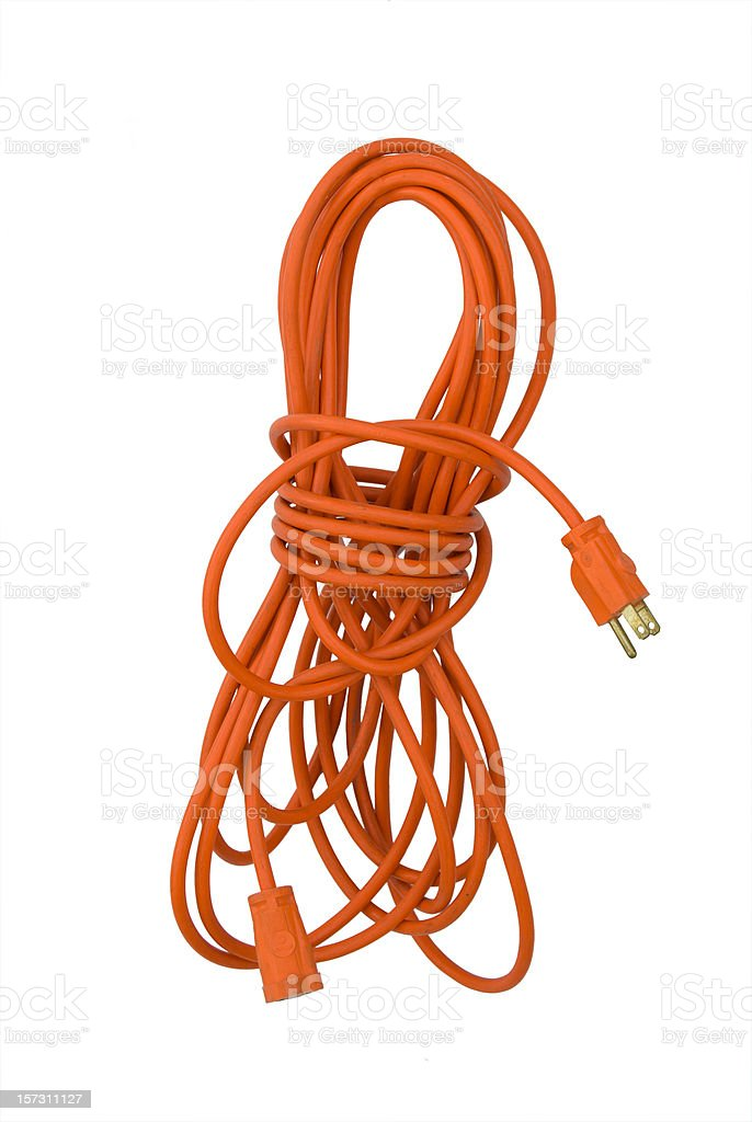 Extension Cord Isolated stock photo
