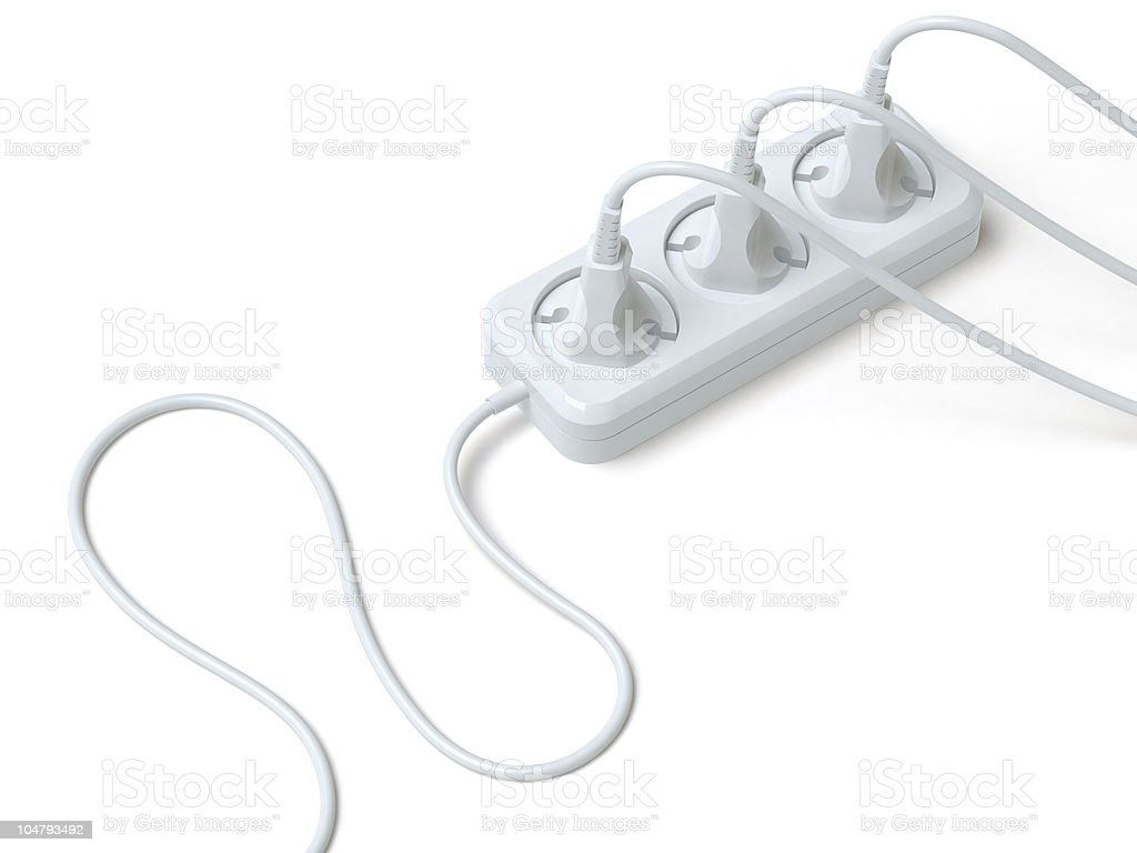 extension lead royalty-free stock photo