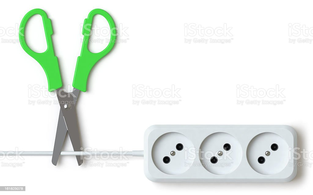 extension lead stock photo