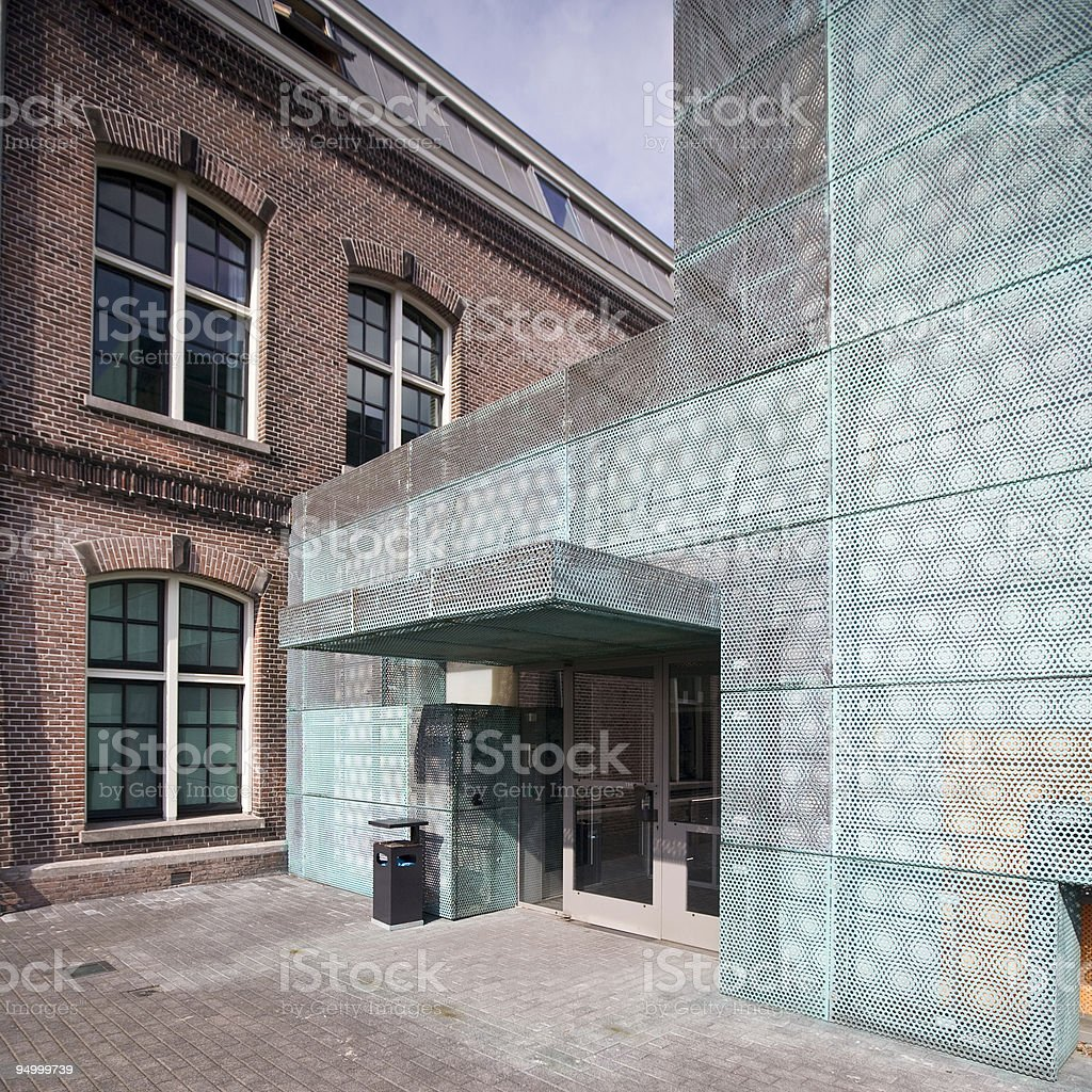 Extension to an old building royalty-free stock photo