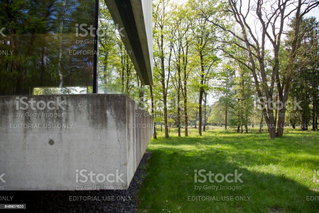 Exterior Bergen-Belsen visitors center stock photo