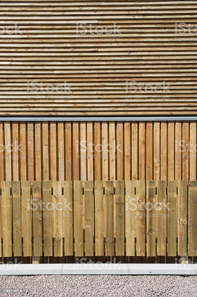 Exterior cladding & fence stock photo
