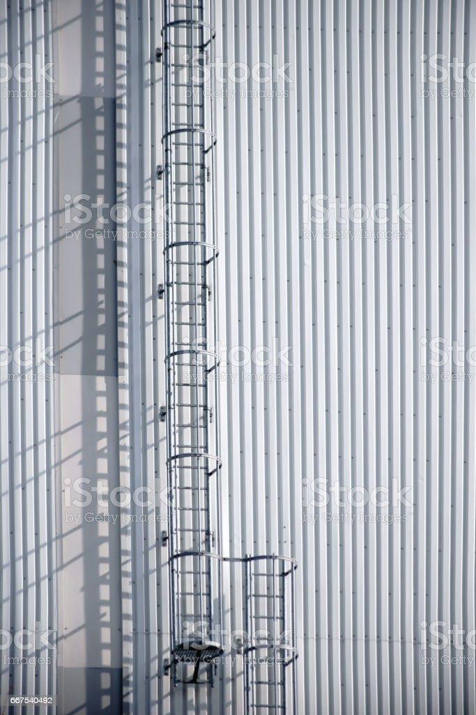 Exterior facade Industrial building stock photo