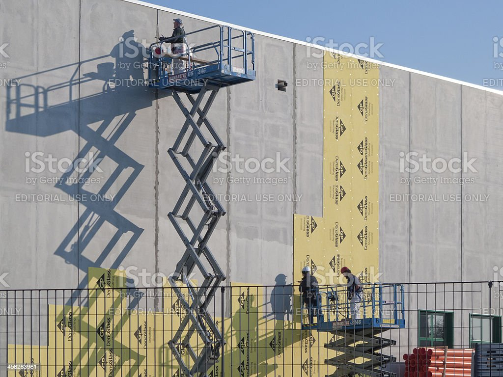 Exterior finishing stock photo