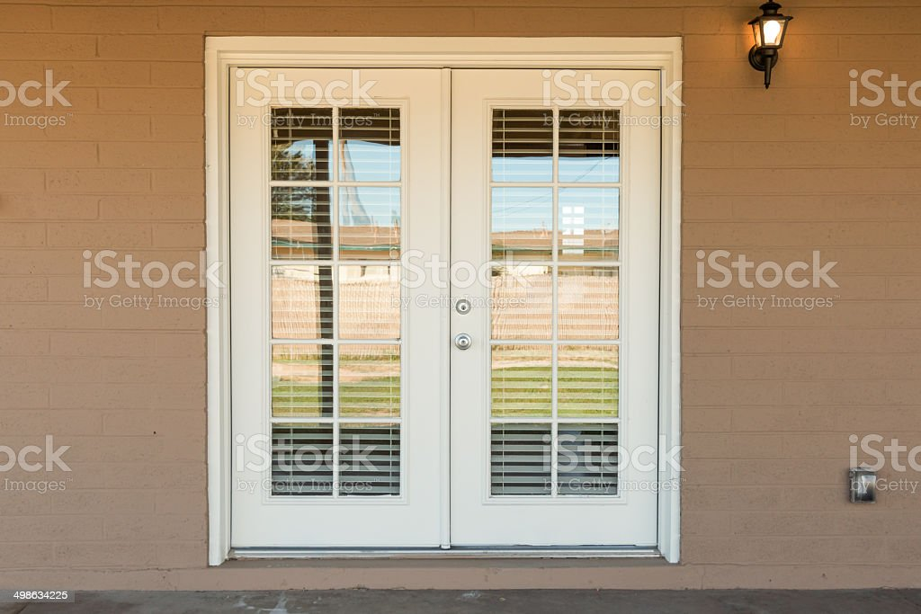 Exterior Glass Door stock photo