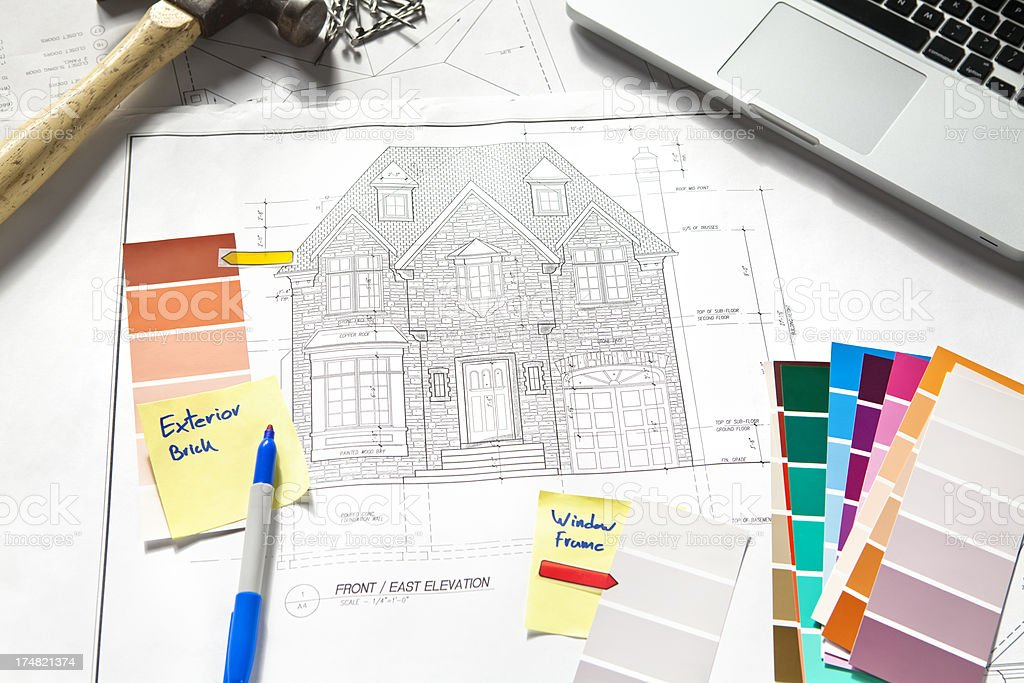 Exterior Home Design royalty-free stock photo
