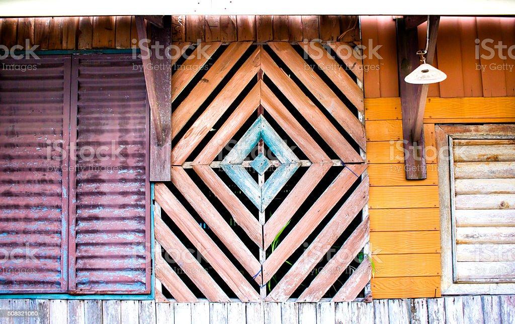 Exterior house multi-shaped decoration stock photo