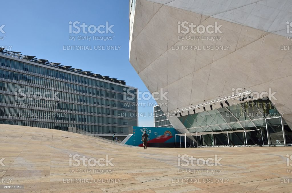 Exterior House of music stock photo