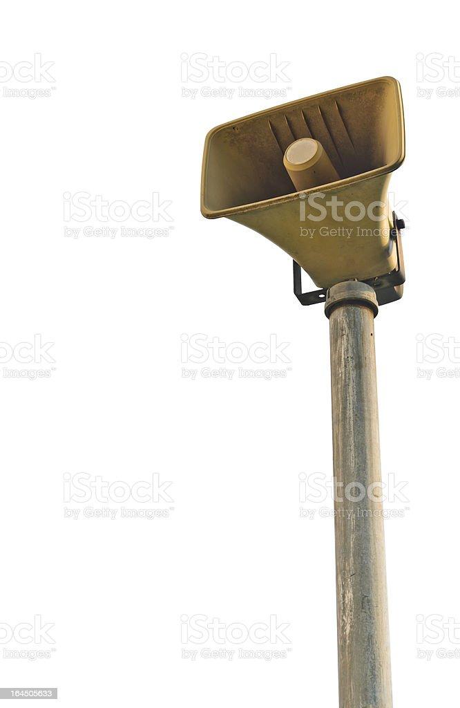 exterior loudspeakers royalty-free stock photo