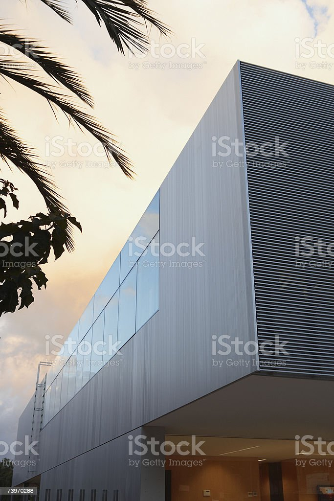Exterior of a modern office building royalty-free stock photo