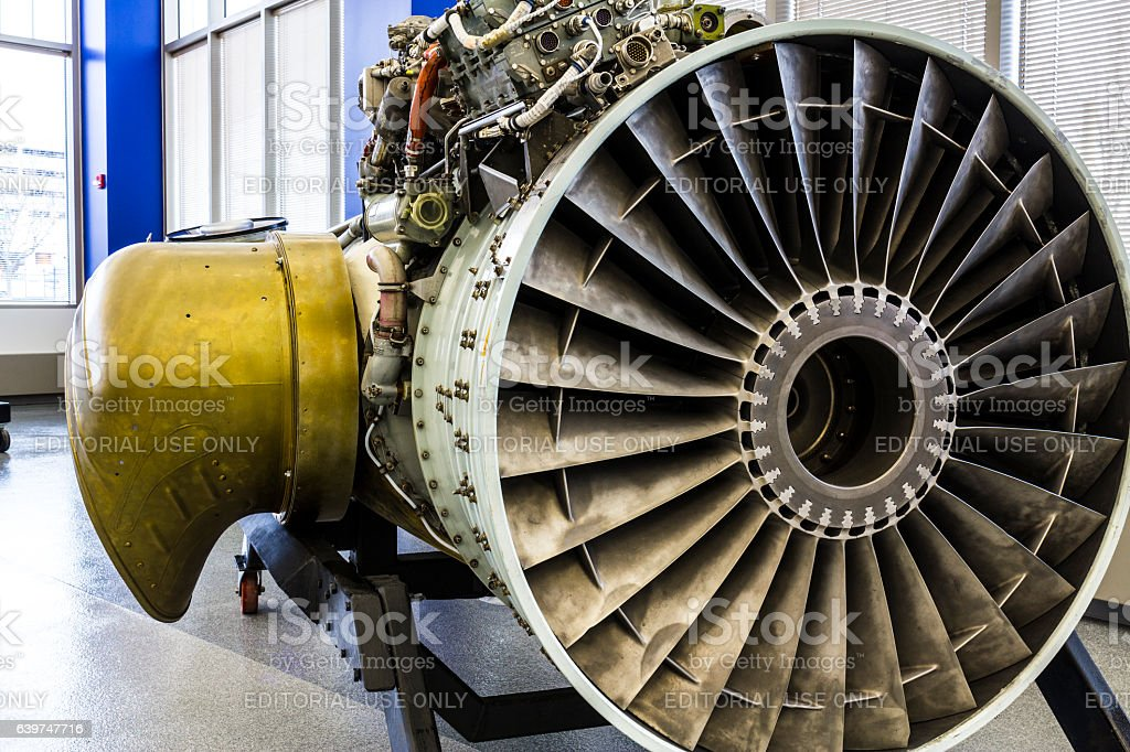 Exterior of a Rolls-Royce F402 Pegasus Jet Engine (a) stock photo