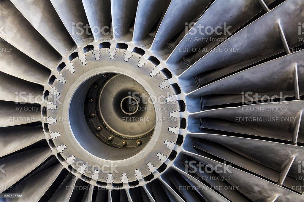 Exterior of a Rolls-Royce F402 Pegasus Jet Engine (b) stock photo