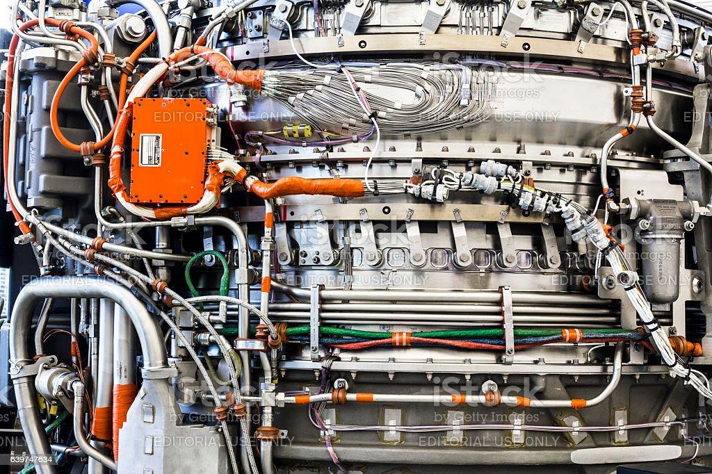 Exterior of an F135 Jet Engine LiftSystem (b) stock photo