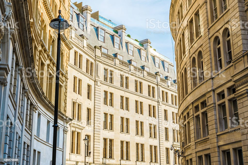 Exterior of Building in Great Scotland Yard, London stock photo
