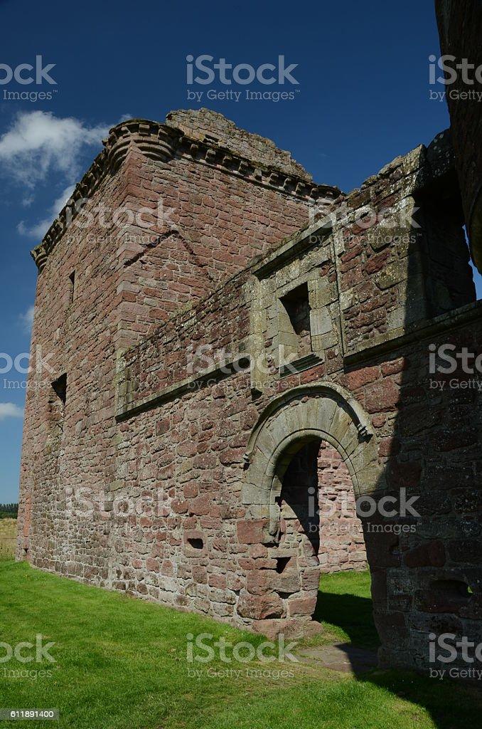Exterior of Burleigh Castle stock photo