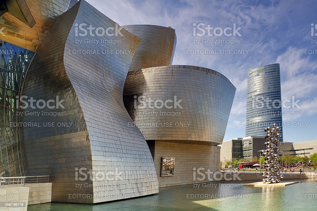 Exterior of Guggenheim Museum Bilboa, Spain stock photo