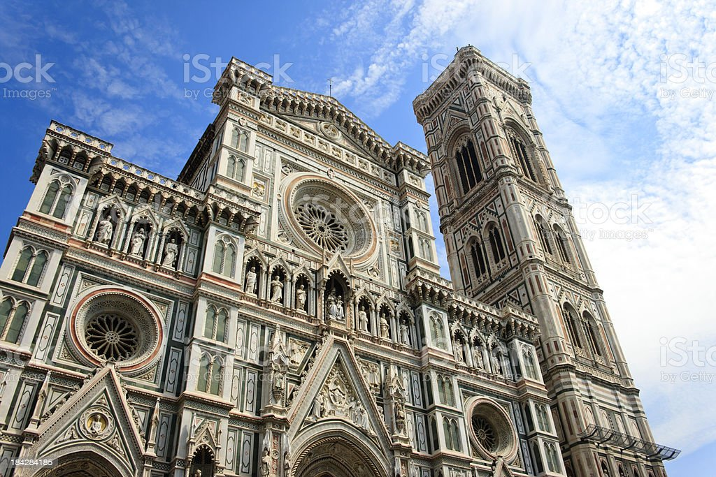 Exterior of Il Duomo, Florence, Italy stock photo