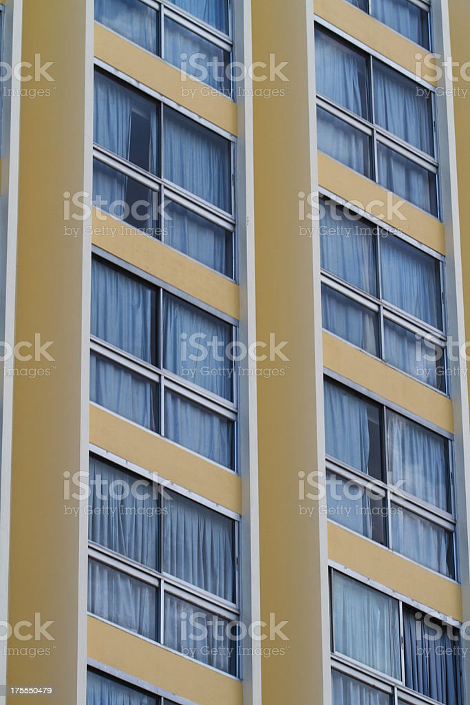 Exterior of luxury building hotel with modern architecture royalty-free stock photo