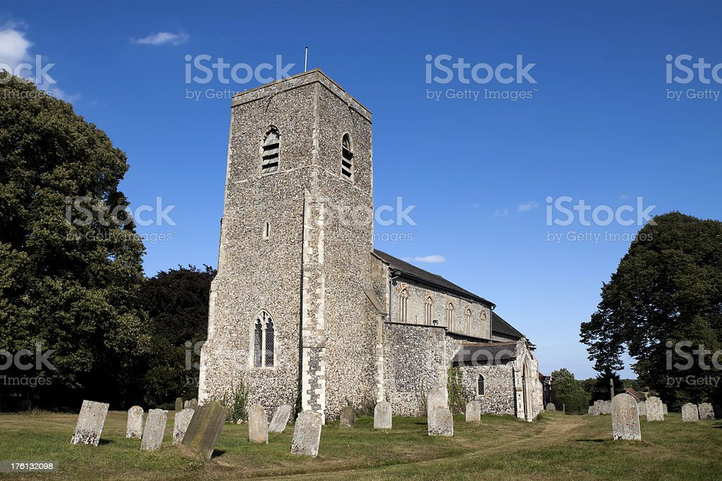 Exterior of Marsham Church, Norfolk stock photo