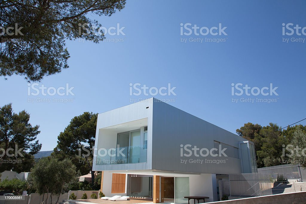 Exterior of modern house royalty-free stock photo