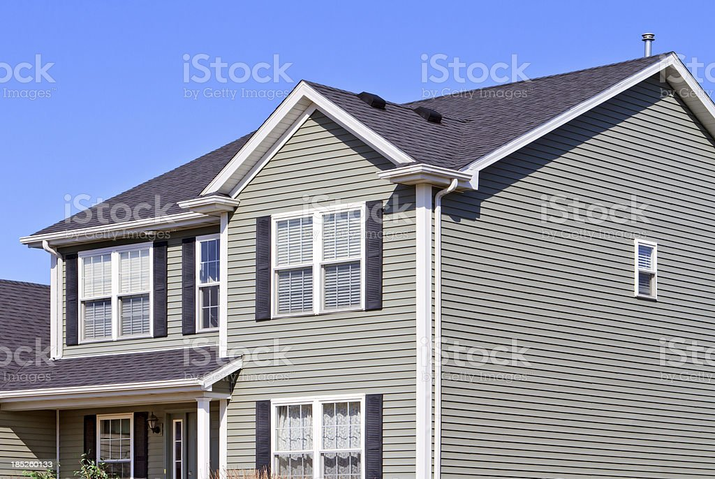 Exterior of new home royalty-free stock photo