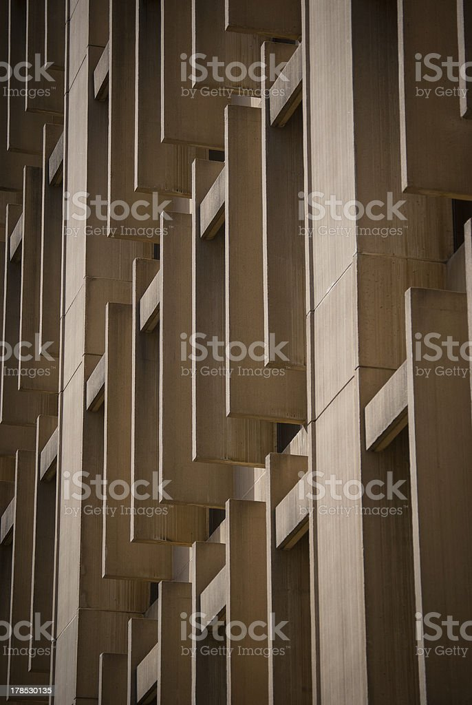 Exterior of office building windows and concrete shades royalty-free stock photo