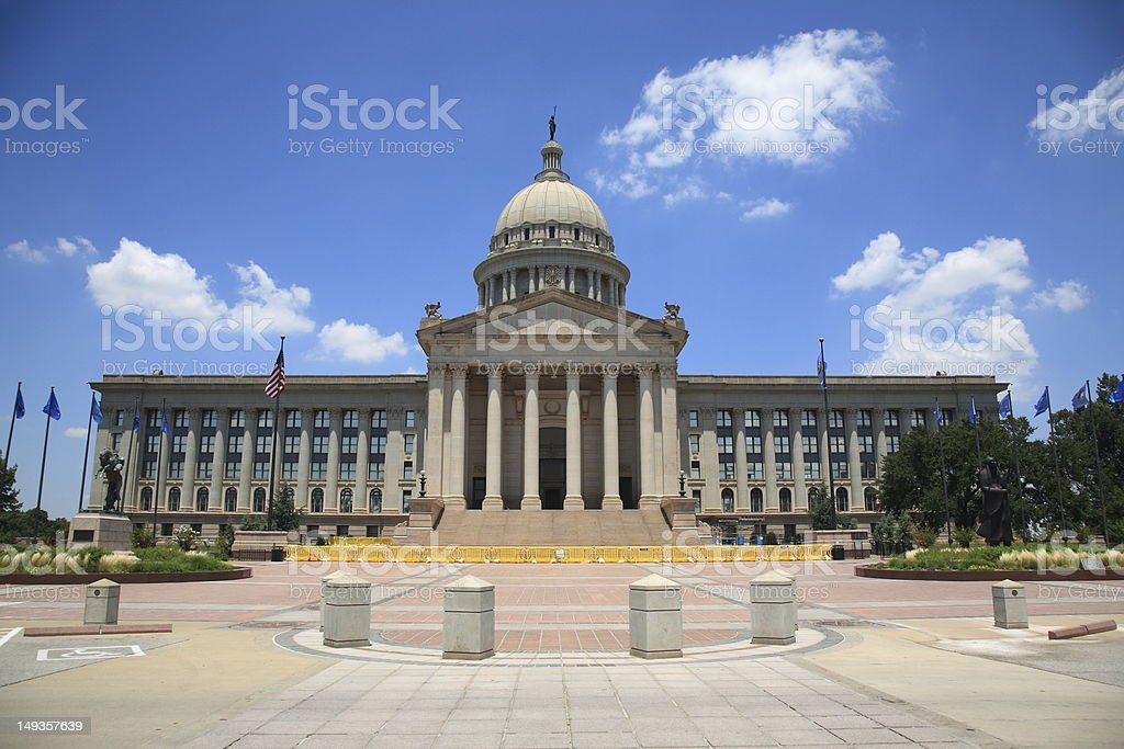 Exterior of Oklahoma City State Capitol Building stock photo