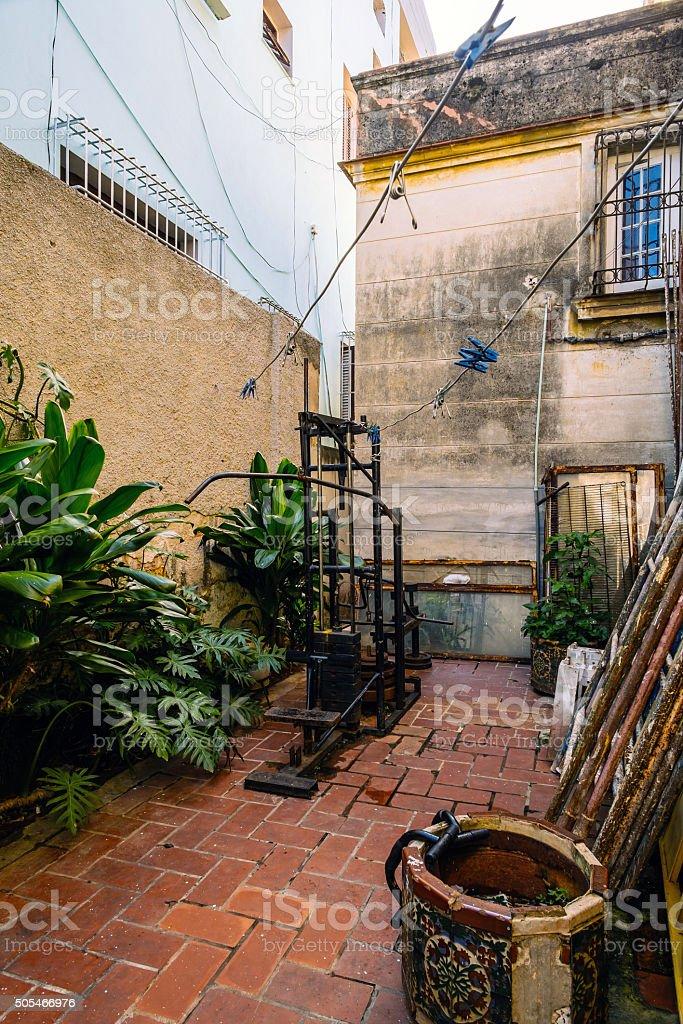 Exterior of Old Havana Villa stock photo