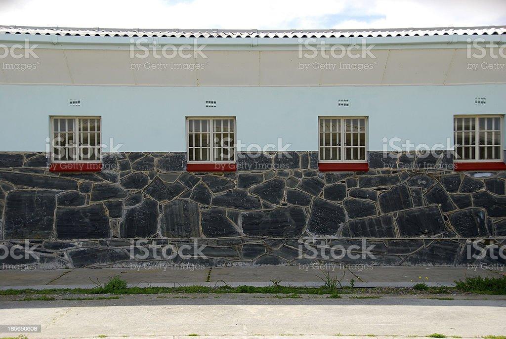 exterior of robben island prison stock photo