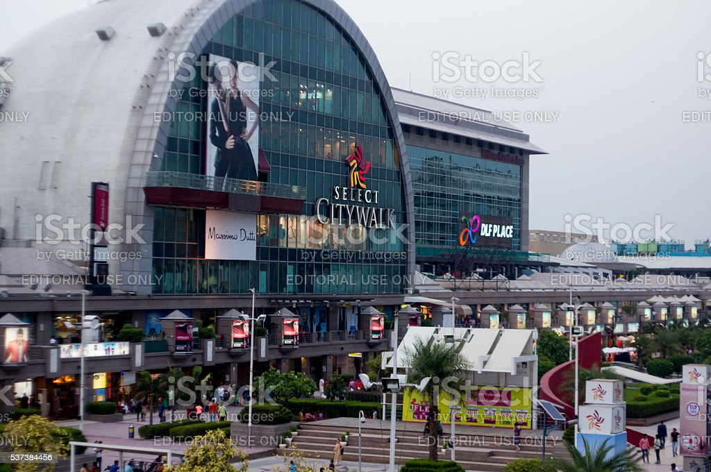 Exterior of Select citywalk in Delhi stock photo