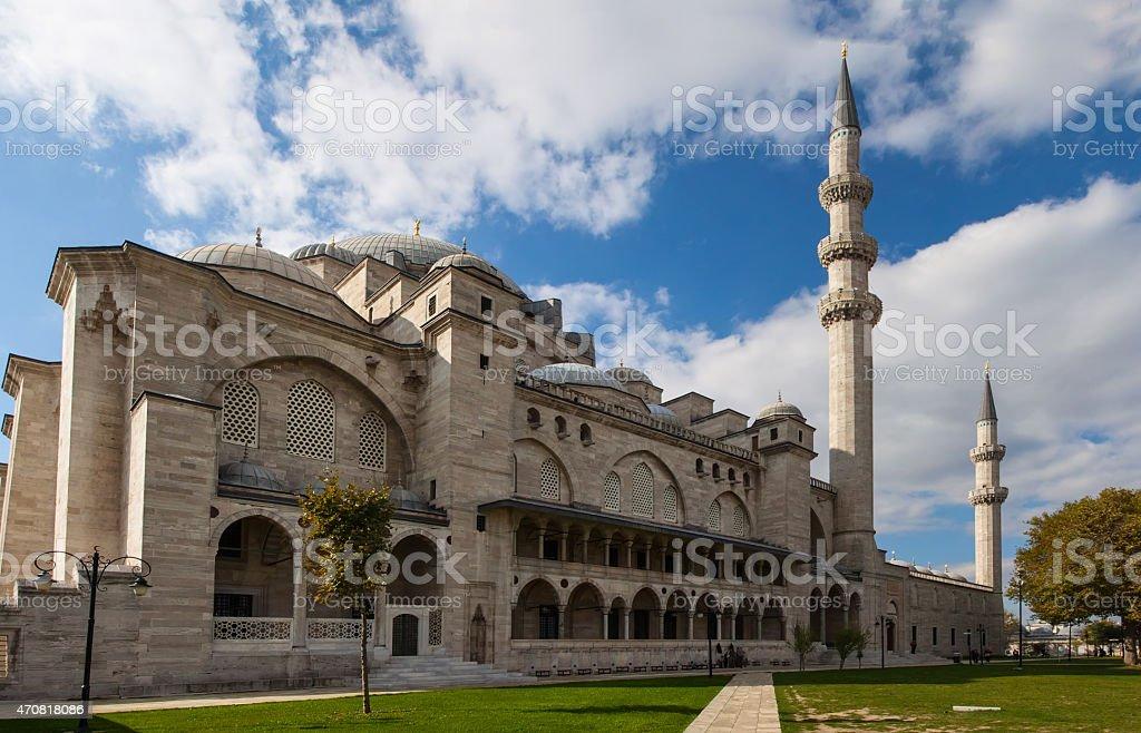 Exterior of  Suleymaniye mosque,  Istanbul stock photo