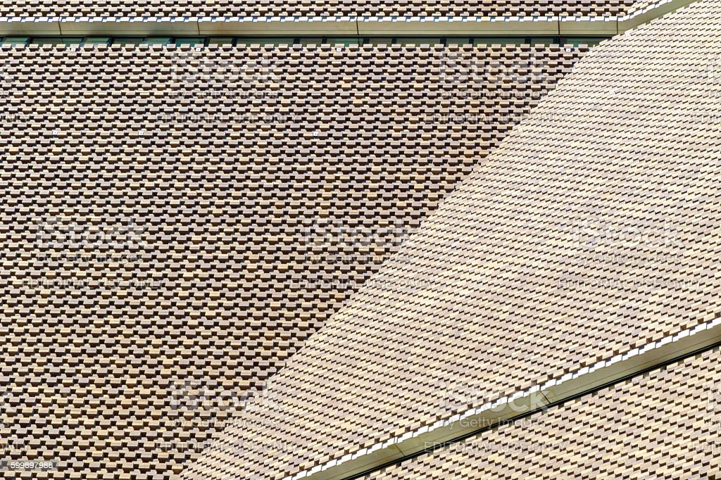 Exterior of Tate Modern New Building stock photo