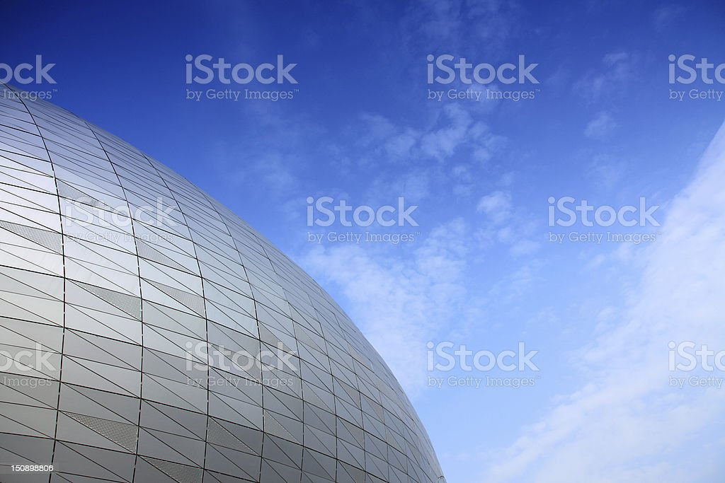 Exterior of the building stock photo