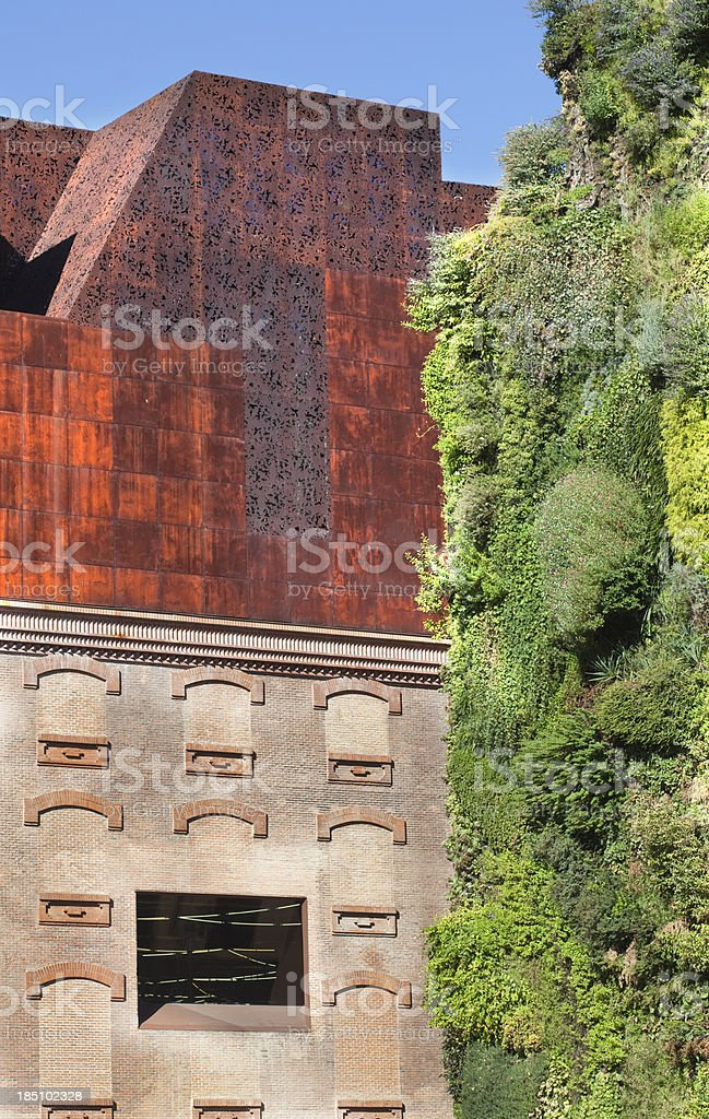Exterior of the CaixaForum building. stock photo