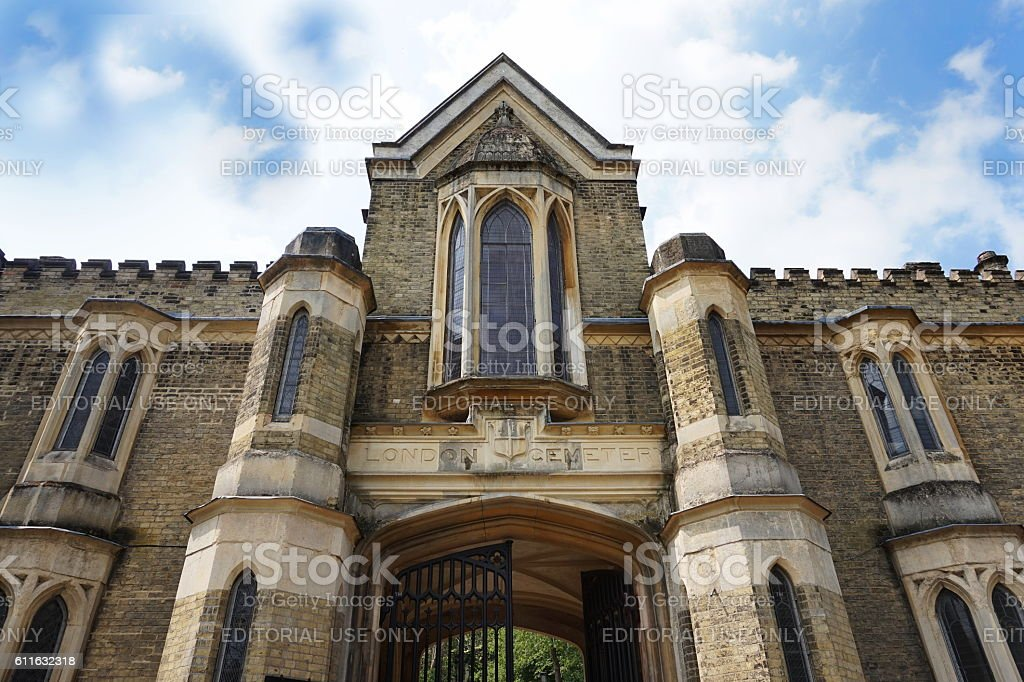 Exterior of the chapel in the West Cemetery stock photo