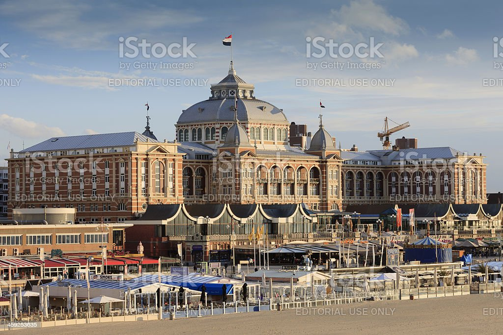 exterior of the famous Kurhaus Hotel at Scheveningen stock photo