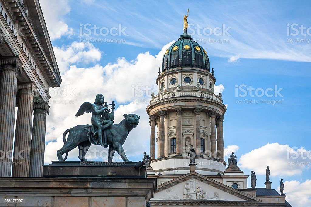 Exterior of the French Cathedral in Berlin, Germany stock photo