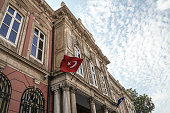 Exterior of the Grand Post Office in Istanbul Turkey.