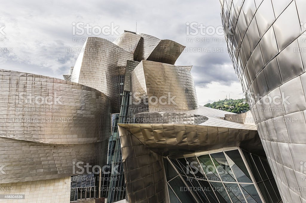 Exterior of The Guggenheim Museum royalty-free stock photo