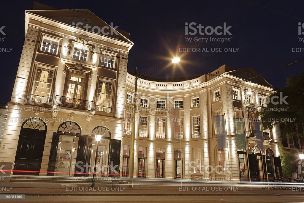 exterior of The Hague's Royal Theatre royalty-free stock photo