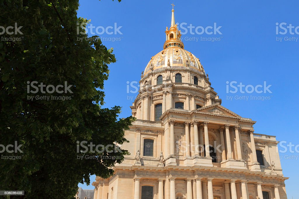 exterior of the Hotel National des Invalides in Paris stock photo