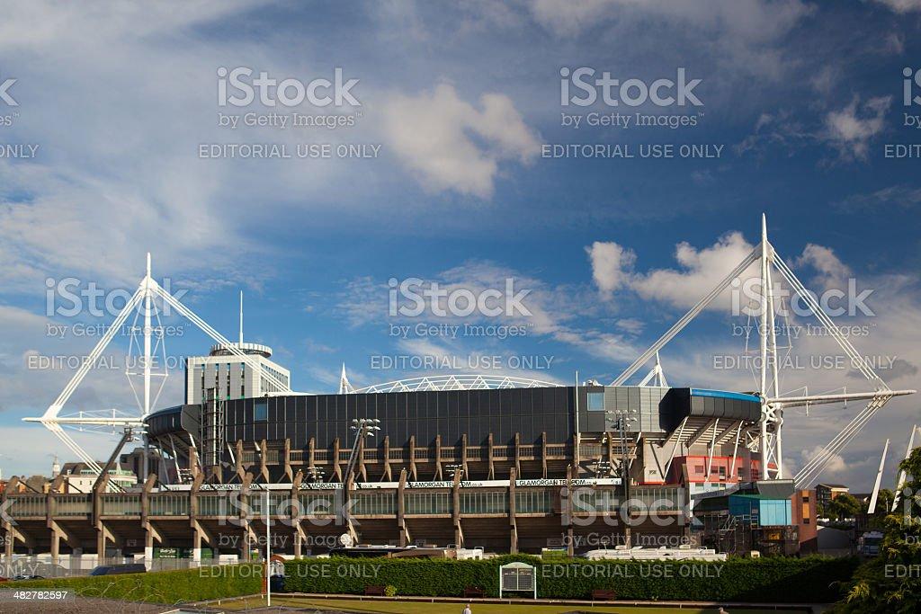 Exterior of the Millennium Stadium stock photo