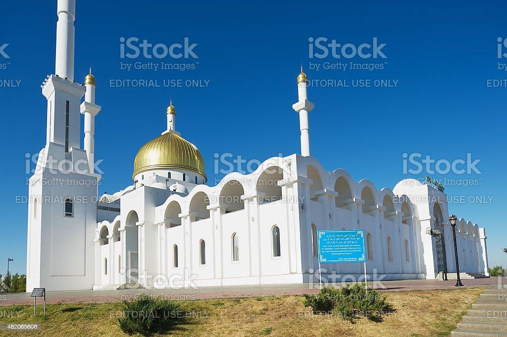 Exterior of the Nur Astana mosque, Astana, Kazakhstan. stock photo