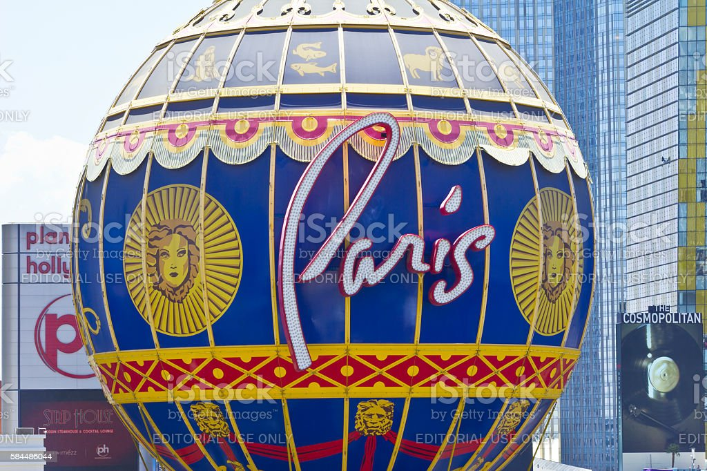 Exterior of the Paris Las Vegas I stock photo
