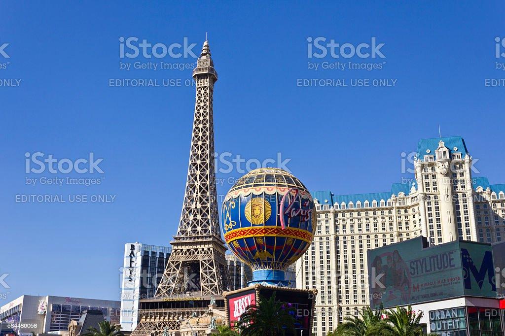 Exterior of the Paris Las Vegas II stock photo