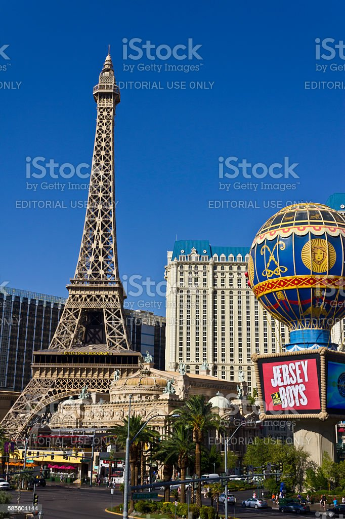 Exterior of the Paris Las Vegas III stock photo